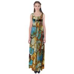Rusty texture                    Empire Waist Maxi Dress