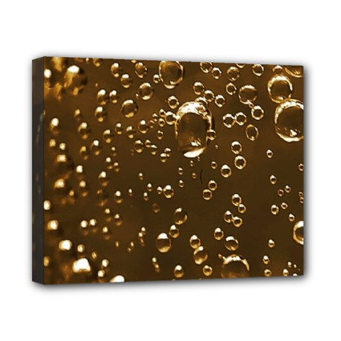 Festive Bubbles Sparkling Wine Champagne Golden Water Drops Canvas 10  X 8