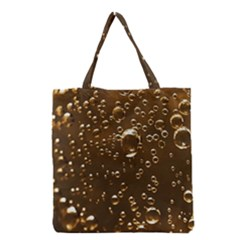 Festive Bubbles Sparkling Wine Champagne Golden Water Drops Grocery Tote Bag