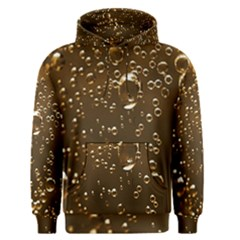 Festive Bubbles Sparkling Wine Champagne Golden Water Drops Men s Pullover Hoodie