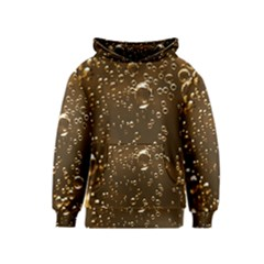 Festive Bubbles Sparkling Wine Champagne Golden Water Drops Kids  Pullover Hoodie