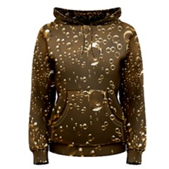 Festive Bubbles Sparkling Wine Champagne Golden Water Drops Women s Pullover Hoodie