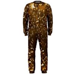 Festive Bubbles Sparkling Wine Champagne Golden Water Drops OnePiece Jumpsuit (Men)