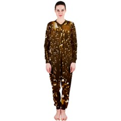 Festive Bubbles Sparkling Wine Champagne Golden Water Drops OnePiece Jumpsuit (Ladies)