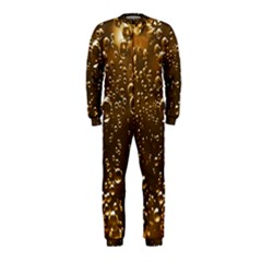Festive Bubbles Sparkling Wine Champagne Golden Water Drops OnePiece Jumpsuit (Kids)