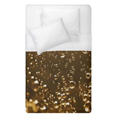 Festive Bubbles Sparkling Wine Champagne Golden Water Drops Duvet Cover (Single Size)