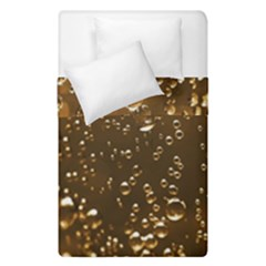 Festive Bubbles Sparkling Wine Champagne Golden Water Drops Duvet Cover Double Side (single Size)