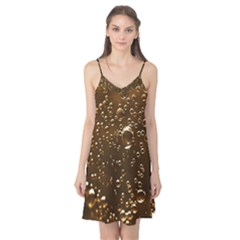 Festive Bubbles Sparkling Wine Champagne Golden Water Drops Camis Nightgown
