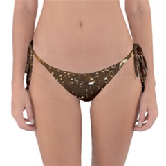 Festive Bubbles Sparkling Wine Champagne Golden Water Drops Reversible Bikini Bottom