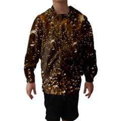 Festive Bubbles Sparkling Wine Champagne Golden Water Drops Hooded Wind Breaker (Kids)