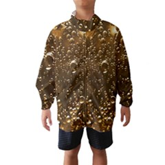 Festive Bubbles Sparkling Wine Champagne Golden Water Drops Wind Breaker (Kids)
