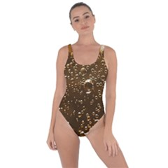 Festive Bubbles Sparkling Wine Champagne Golden Water Drops Bring Sexy Back Swimsuit
