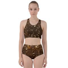 Festive Bubbles Sparkling Wine Champagne Golden Water Drops Bikini Swimsuit Spa Swimsuit
