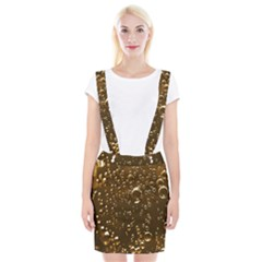 Festive Bubbles Sparkling Wine Champagne Golden Water Drops Braces Suspender Skirt