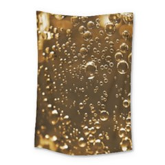 Festive Bubbles Sparkling Wine Champagne Golden Water Drops Small Tapestry