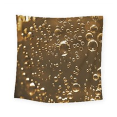 Festive Bubbles Sparkling Wine Champagne Golden Water Drops Square Tapestry (Small)