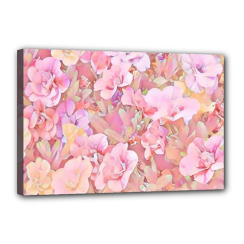 Lovely Floral 36a Canvas 18  x 12