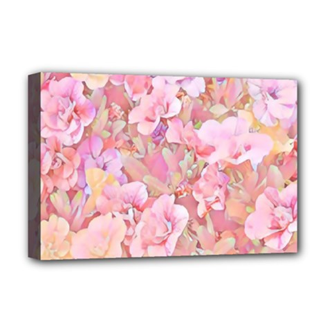Lovely Floral 36a Deluxe Canvas 18  x 12