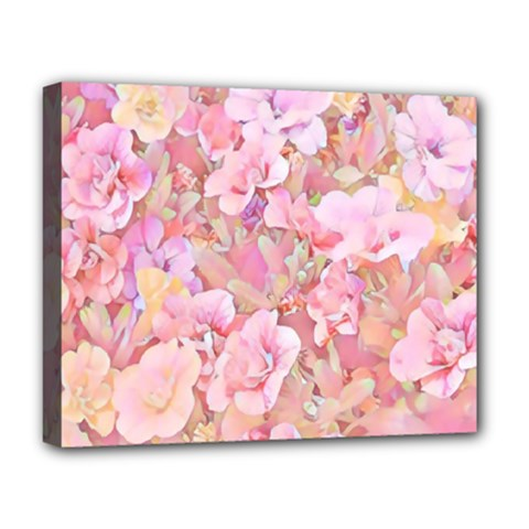 Lovely Floral 36a Deluxe Canvas 20  x 16