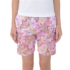 Lovely Floral 36a Women s Basketball Shorts