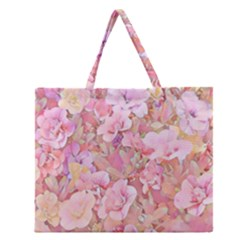 Lovely Floral 36a Zipper Large Tote Bag