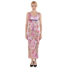 Lovely Floral 36a Fitted Maxi Dress