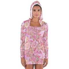 Lovely Floral 36a Long Sleeve Hooded T-shirt
