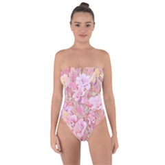 Lovely Floral 36a Tie Back One Piece Swimsuit