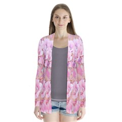 Lovely Floral 36a Drape Collar Cardigan