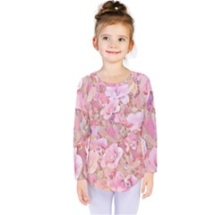 Lovely Floral 36a Kids  Long Sleeve Tee