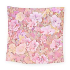 Lovely Floral 36a Square Tapestry (Large)