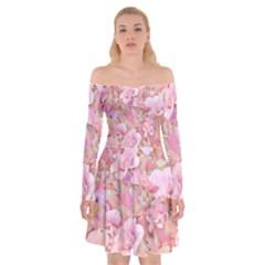 Lovely Floral 36a Off Shoulder Skater Dress