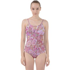 Lovely Floral 36a Cut Out Top Tankini Set