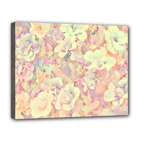 Lovely Floral 36b Canvas 14  x 11