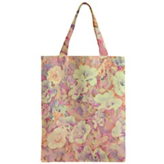 Lovely Floral 36b Zipper Classic Tote Bag