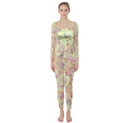 Lovely Floral 36b Long Sleeve Catsuit