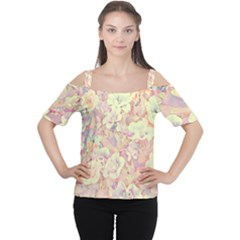 Lovely Floral 36b Cutout Shoulder Tee