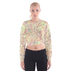 Lovely Floral 36b Cropped Sweatshirt