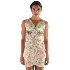 Lovely Floral 36b Wrap Front Bodycon Dress