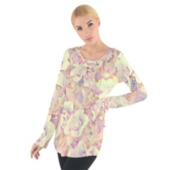 Lovely Floral 36b Tie Up Tee