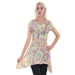 Lovely Floral 36b Short Sleeve Side Drop Tunic