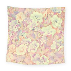 Lovely Floral 36b Square Tapestry (Large)