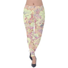Lovely Floral 36b Velvet Leggings