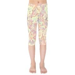 Lovely Floral 36b Kids  Capri Leggings