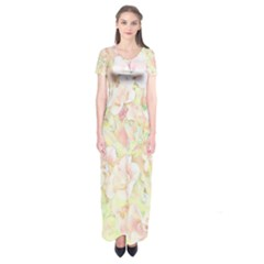 Lovely Floral 36c Short Sleeve Maxi Dress