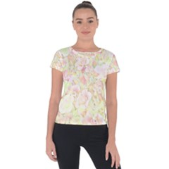 Lovely Floral 36c Short Sleeve Sports Top