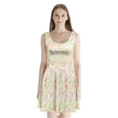 Lovely Floral 36c Split Back Mini Dress