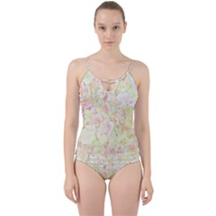 Lovely Floral 36c Cut Out Top Tankini Set