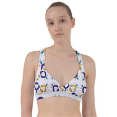 Pattern Circular Birds Sweetheart Sports Bra