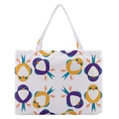 Pattern Circular Birds Medium Zipper Tote Bag